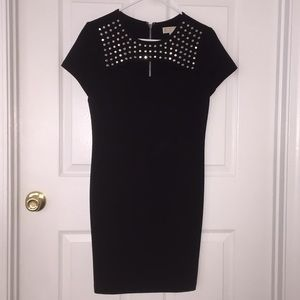 Michael Kors Black Studded Cutout Dress